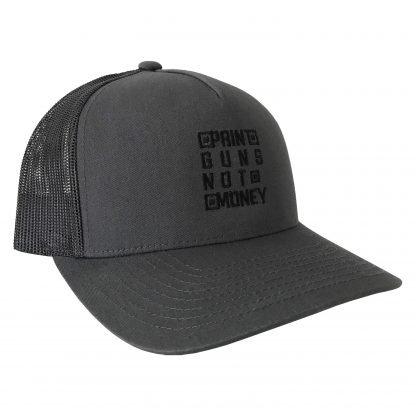 Print Guns Trucker Hat Charcoal Side