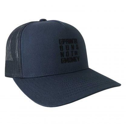 Print Guns Trucker Hat Navy Side