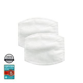 6 Ply HEPA filtration cloth insert for face mask adds an additional layer of filtration and captures 99.97% of particles, down to 0.3 micron.